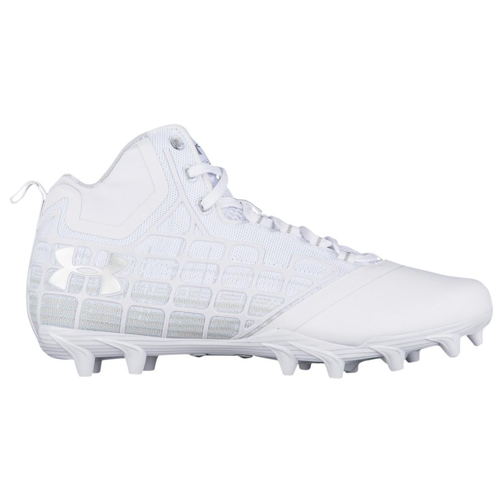 アンダーアーマー Under Armour メンズ ラクロス シューズ・靴【banshee mid mc】White/White
