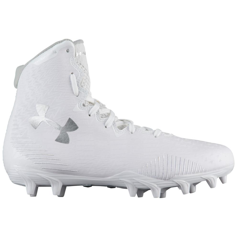 アンダーアーマー Under Armour レディース ラクロス シューズ・靴【lacrosse highlight mc】White/Metallic Silver