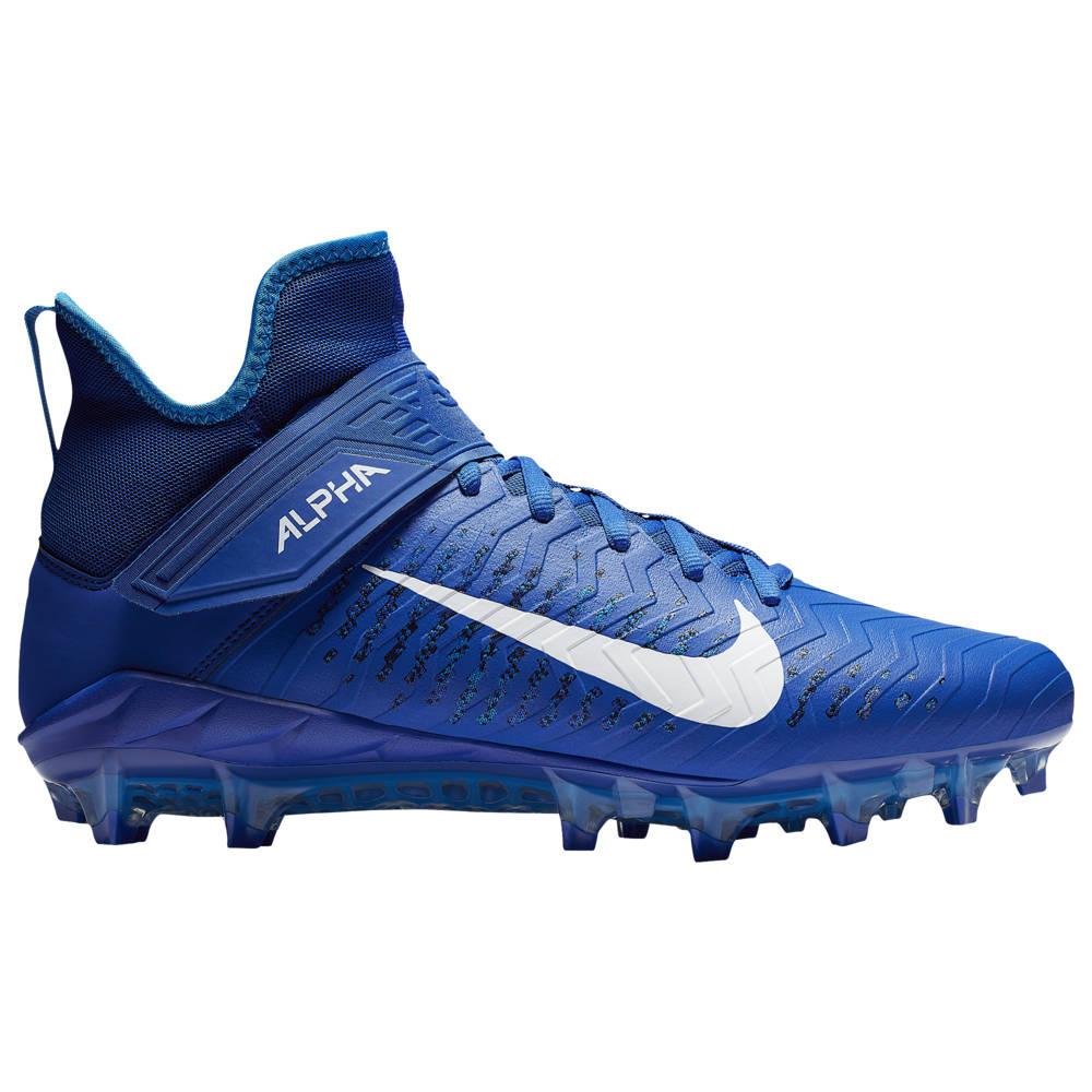 Nike Mens Alpha Menace Pro 2 Mid Football Cleat White//Black//Game Royal Size 10.5 M US