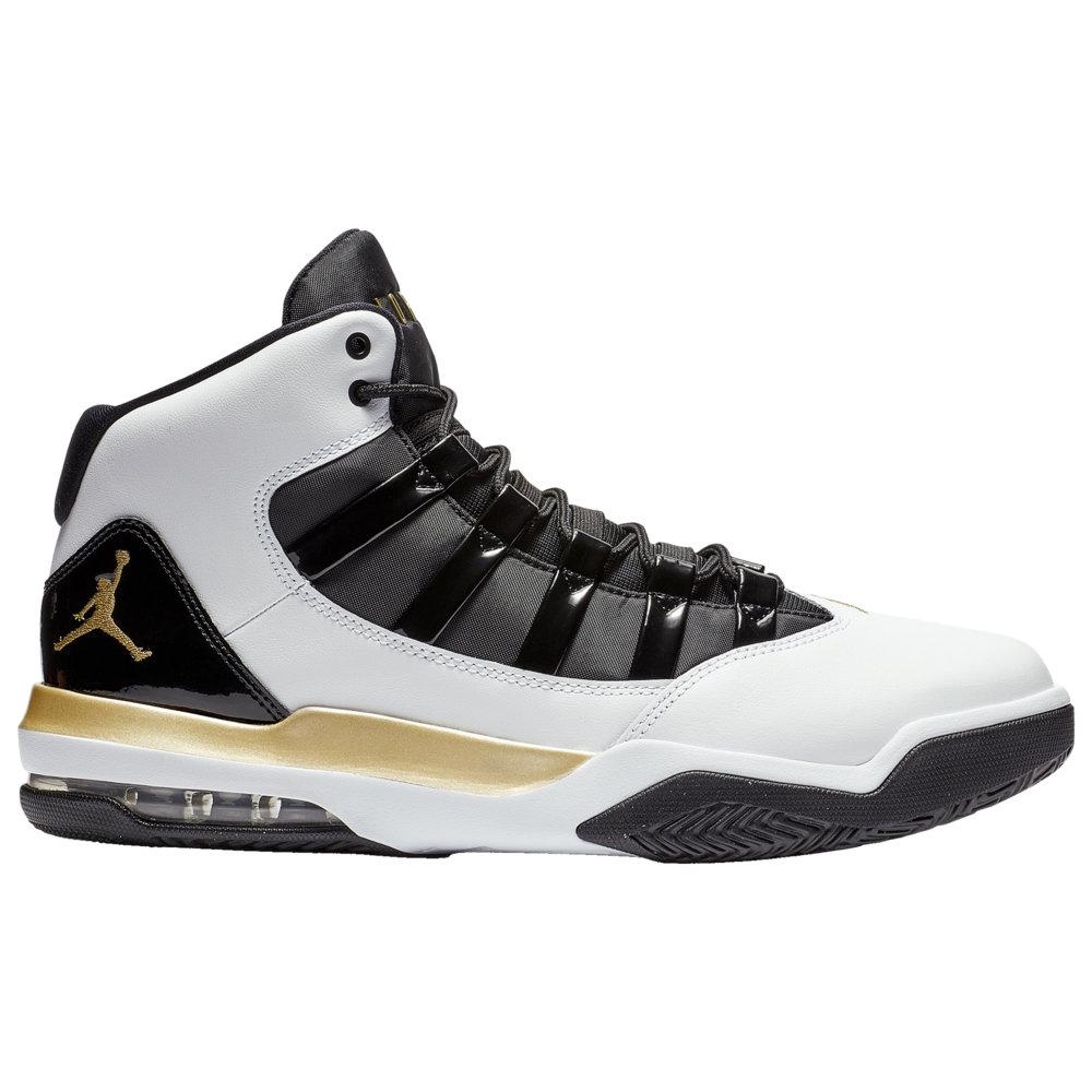 ナイキ ジョーダン Jordan メンズ バスケットボール シューズ・靴【Max Aura】White/Metallic Gold/Black