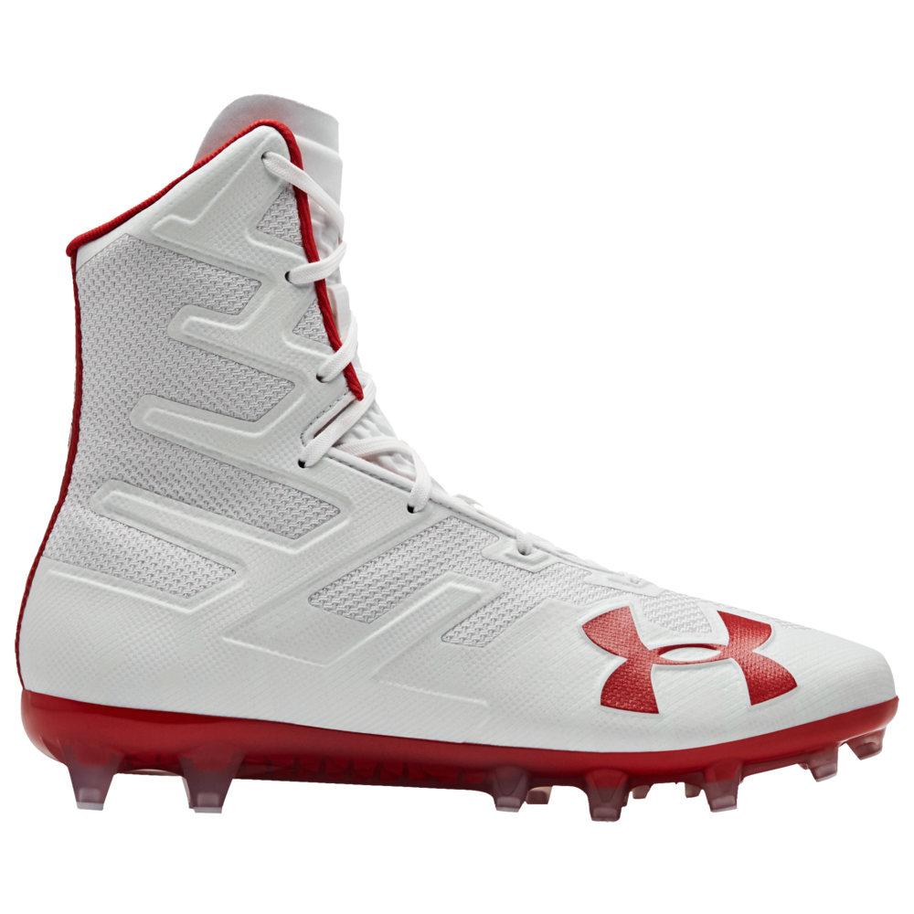 アンダーアーマー Under Armour メンズ ラクロス シューズ・靴【lacrosse highlight mc】White/Red