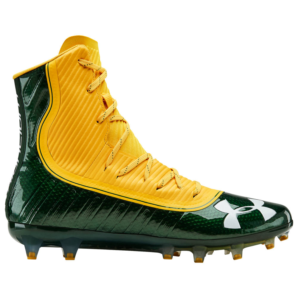 アンダーアーマー Under Armour メンズ アメリカンフットボール シューズ・靴【highlight mc】Forest Green/Steeltown Gold