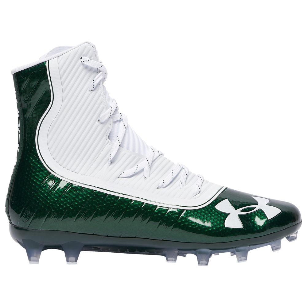 アンダーアーマー Under Armour メンズ アメリカンフットボール シューズ・靴【highlight mc】Forest Green/White