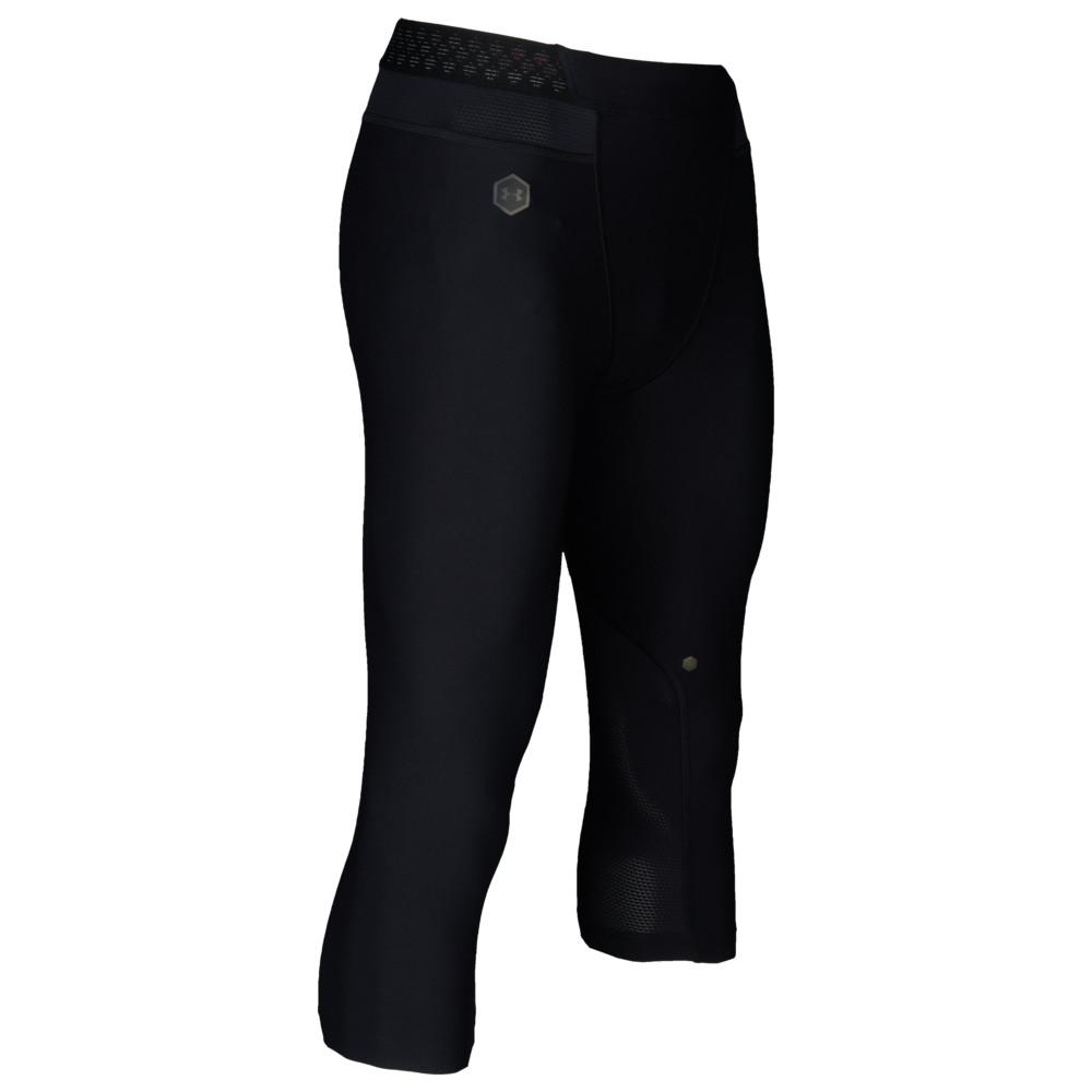 アンダーアーマー Under Armour メンズ フィットネス・トレーニング ボトムス・パンツ【Rush Compression 3/4 Leggings】Black/Black