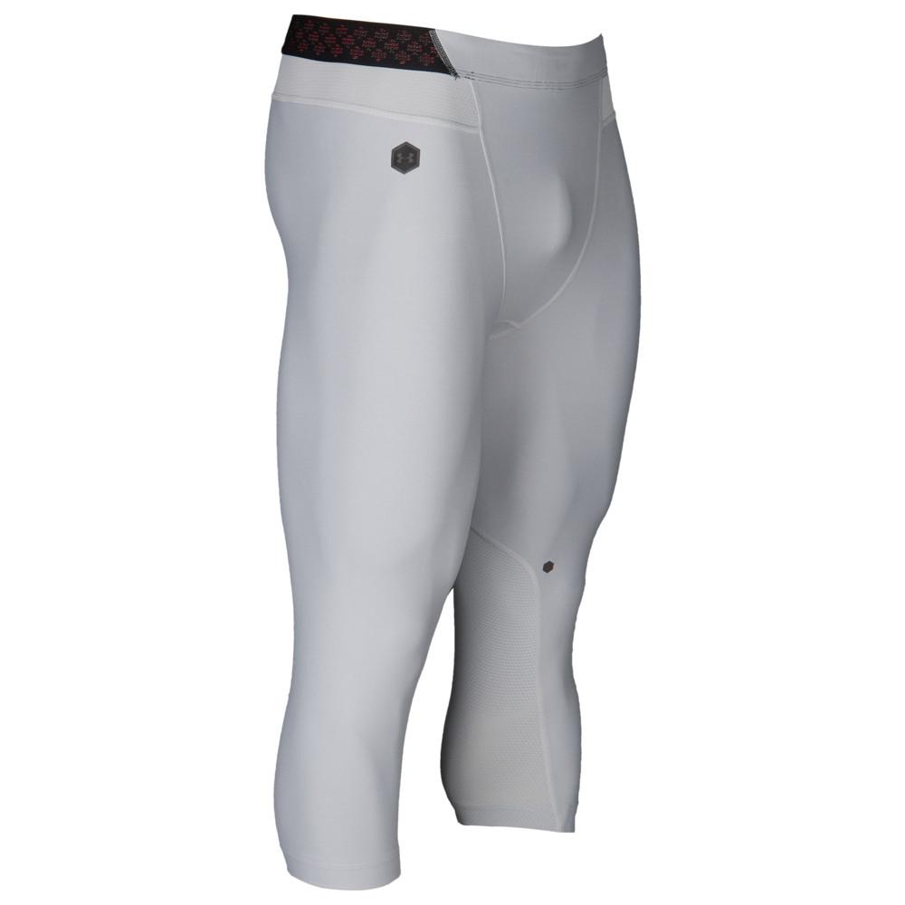アンダーアーマー Under Armour メンズ フィットネス・トレーニング ボトムス・パンツ【Rush Compression 3/4 Leggings】Mod Grey/Black