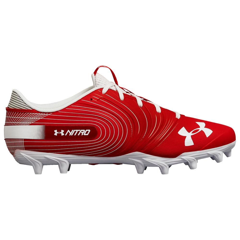アンダーアーマー Under Armour メンズ アメリカンフットボール シューズ・靴【nitro low mc】Red/White