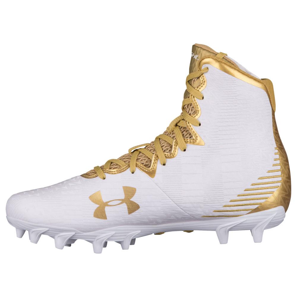 アンダーアーマー Under Armour レディース ラクロス シューズ・靴【lacrosse highlight mc】White/Midnight Gold