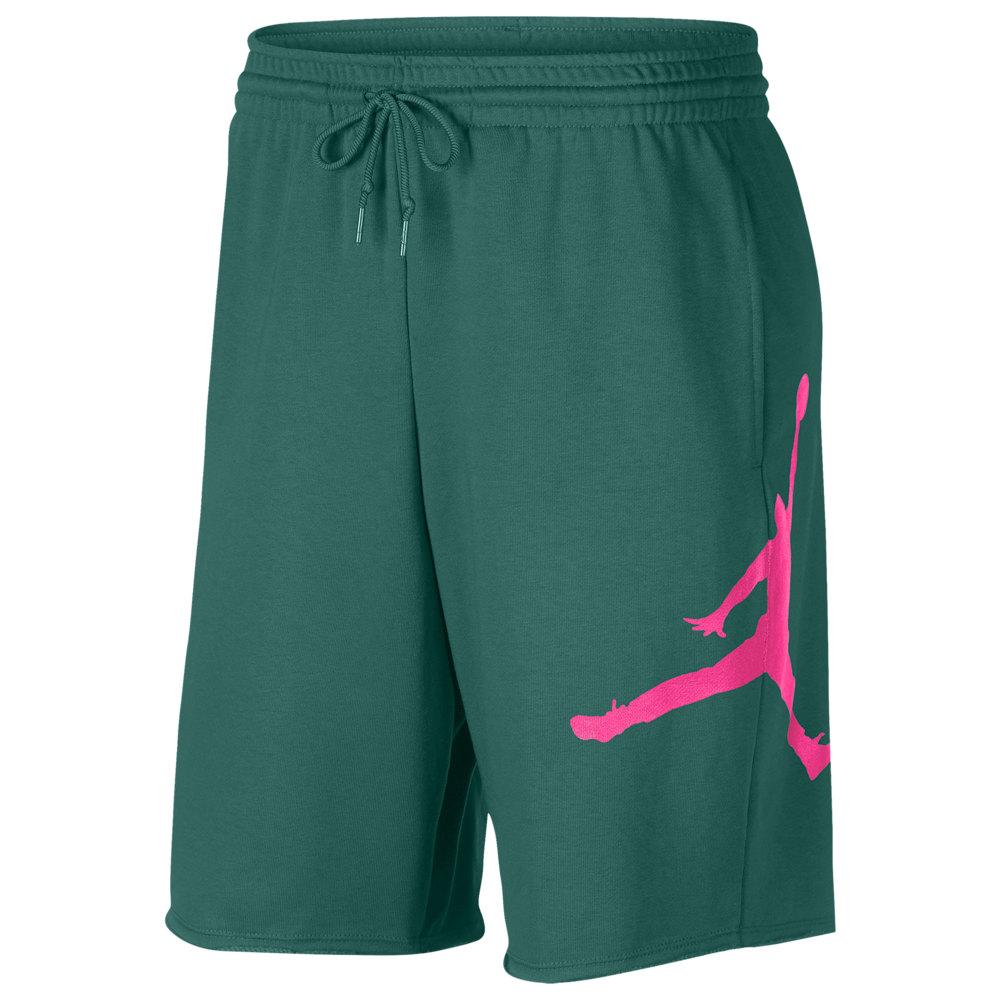 ナイキ ジョーダン Jordan メンズ バスケットボール ボトムス・パンツ【Jumpman Fleece Shorts】Mystic Green/Hyper Pink