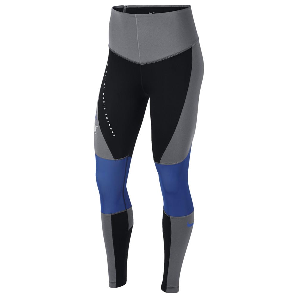 ナイキ Nike レディース フィットネス・トレーニング ボトムス・パンツ【Sport Distort GRX Tights】Carbon Heather/Black/Game Royal