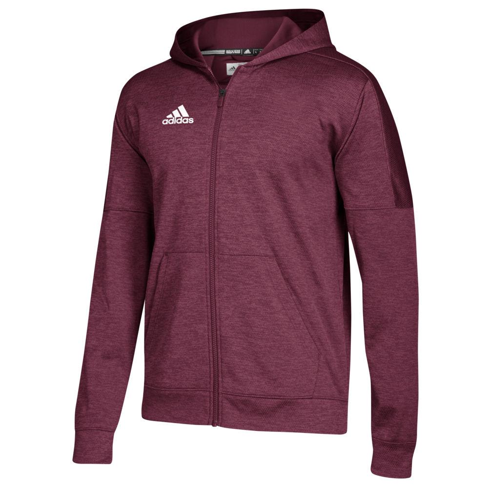アディダス adidas メンズ フィットネス・トレーニング パーカー トップス【team issue fleece full zip hoodie】Maroon/White
