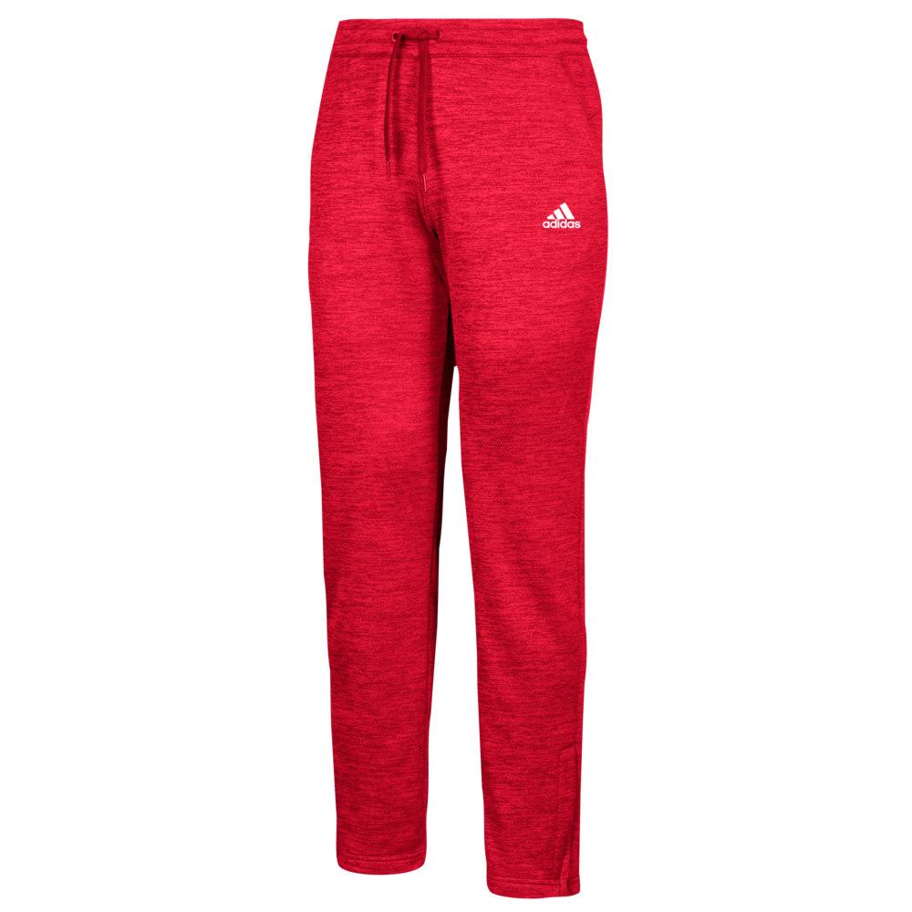 アディダス adidas レディース ボトムス・パンツ 【team issue fleece pants】Power Red/White