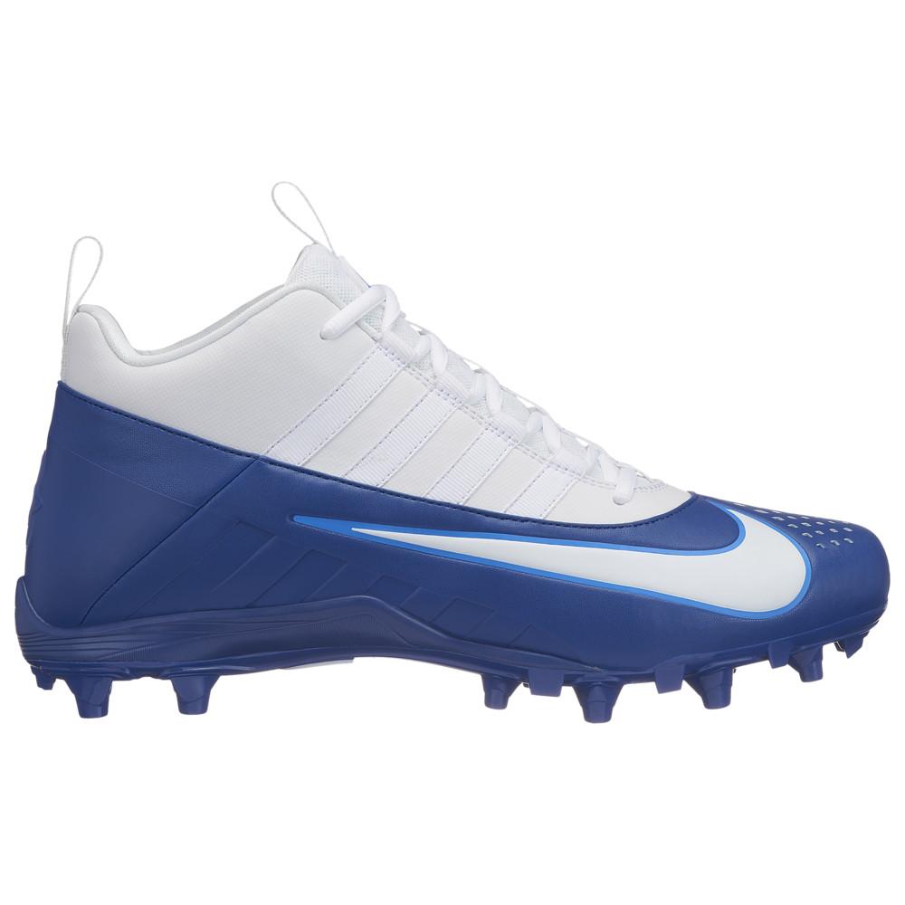 ナイキ Nike メンズ ラクロス シューズ・靴【alpha huarache 6 varsity lax】White/White/Gym Blue/Photo Blue