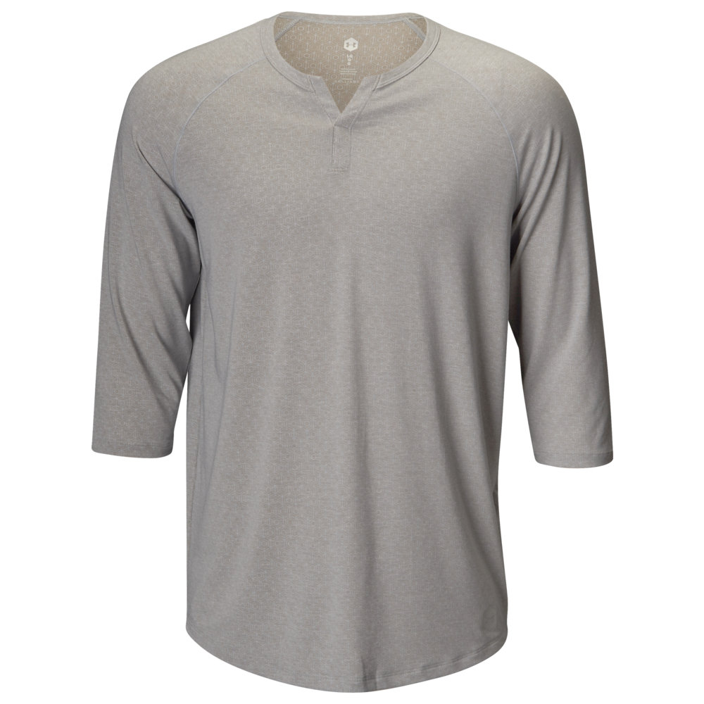 アンダーアーマー Under Armour メンズ インナー・下着 パジャマ・トップのみ【Recovery Sleepwear Henley】Mod Grey/Metallic Silver