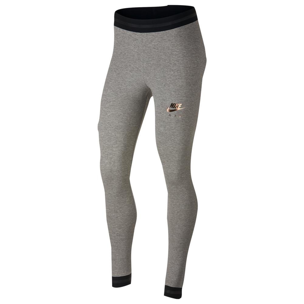 ナイキ Nike レディース インナー・下着 スパッツ・レギンス【Rose Gold Metallic Air Leggings】Dark Grey Heather