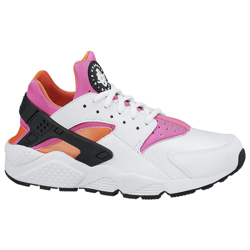 ナイキ Nike レディース ランニング・ウォーキング シューズ・靴【Air Huarache】White/White/Total Orange/Pink Pow/Black