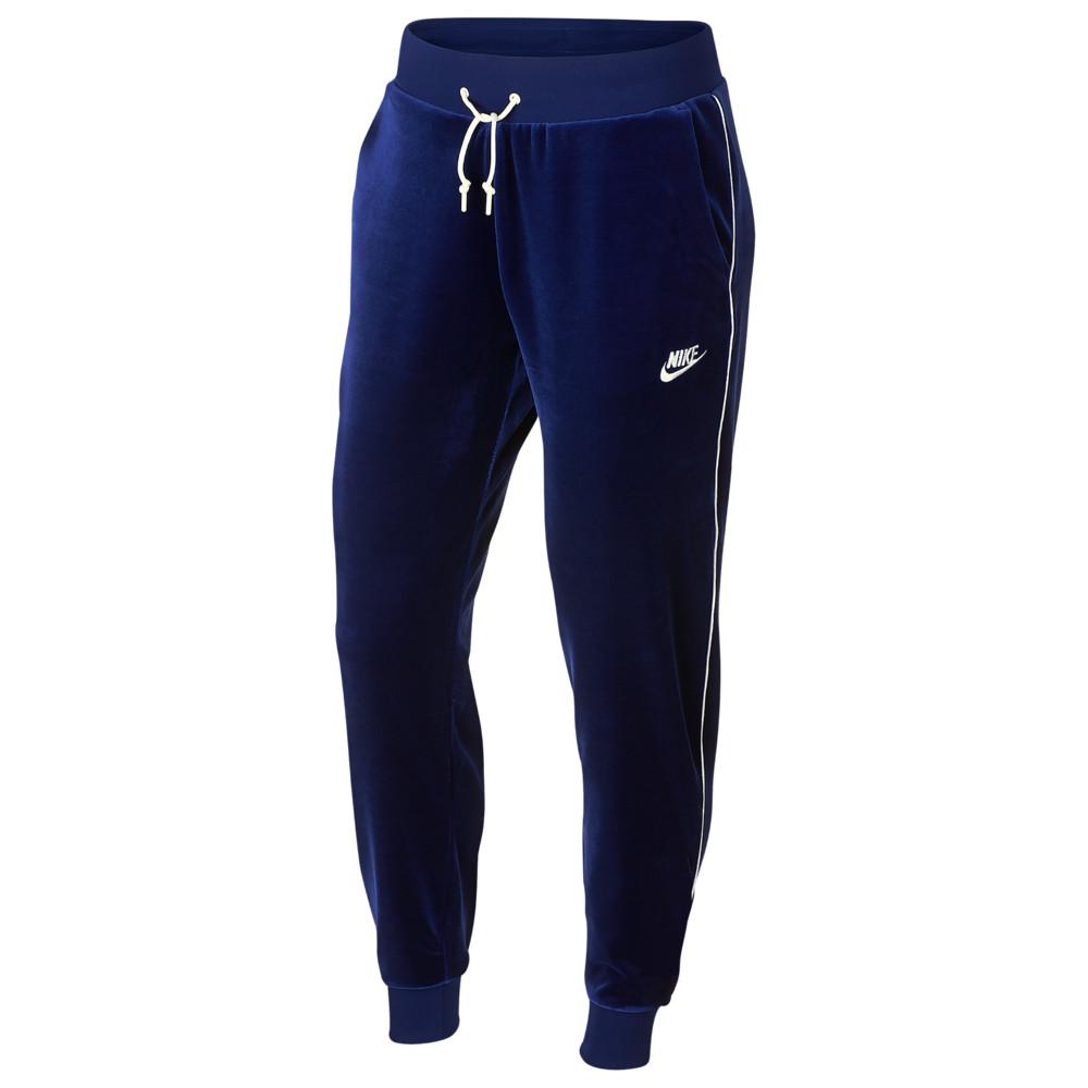 ナイキ Nike レディース ジョガーパンツ ボトムス・パンツ【velour jogger】Blue Void/Sail