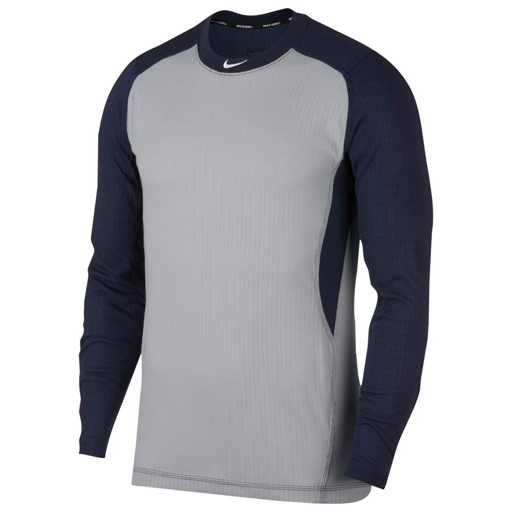ナイキ Nike メンズ 野球 トップス【long sleeve game top】Wolf Grey/College Navy/White