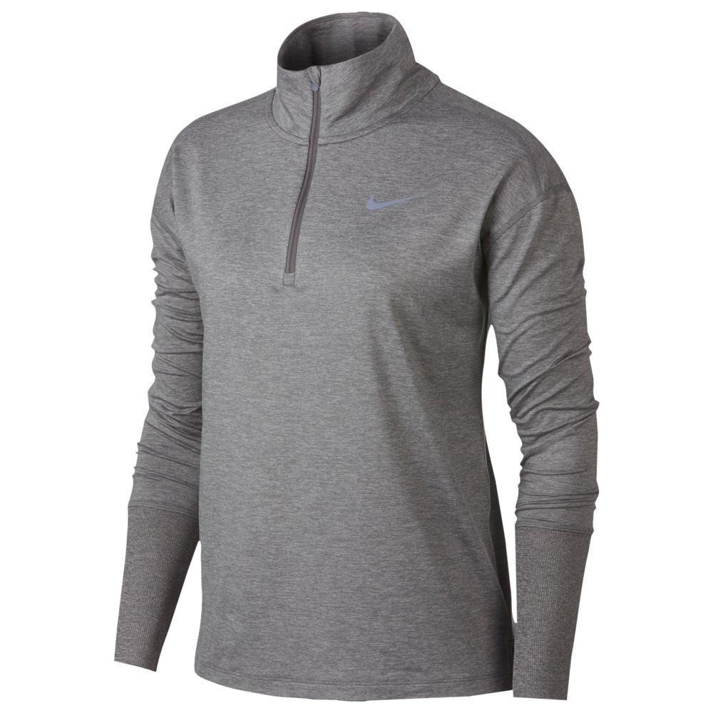 ナイキ Nike レディース フィットネス・トレーニング ハーフジップ トップス【element 1/2 zip top】Gun Smoke/Atmosphere Grey/Heather