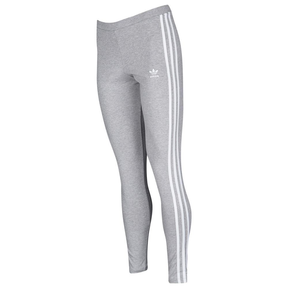 アディダス adidas Originals レディース インナー・下着 スパッツ・レギンス【Adicolor 3 Stripe Leggings】Medium Grey Heather