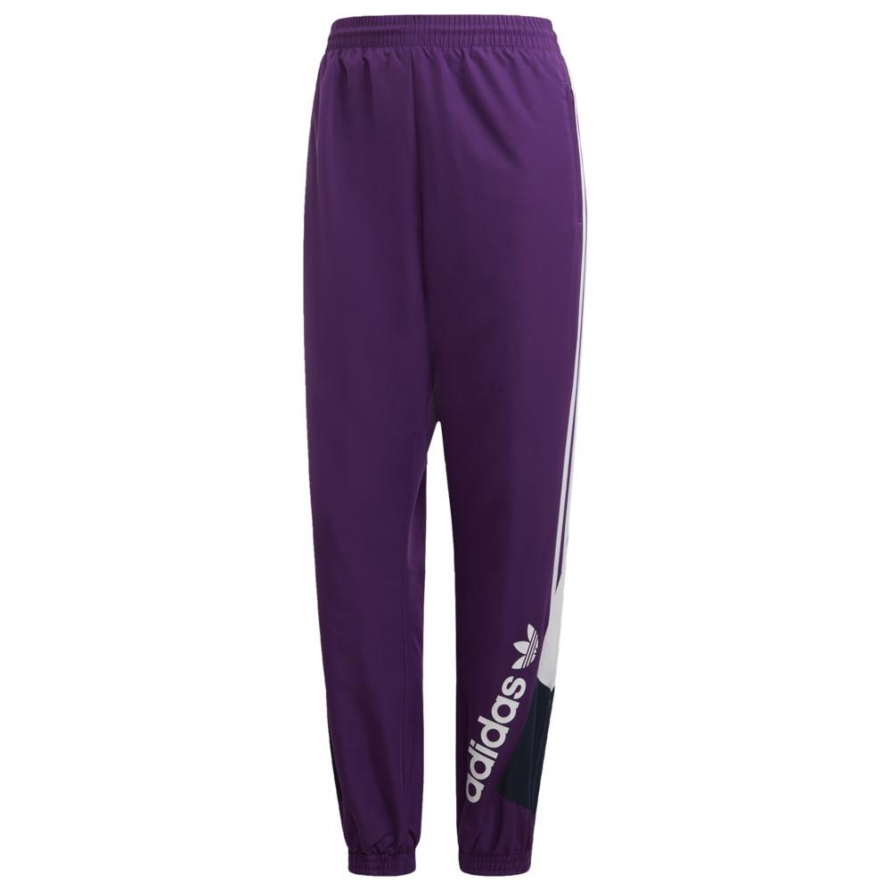 アディダス adidas Originals レディース スウェット・ジャージ ボトムス・パンツ【90's block track pants】Tribe Purple/Collegiate Navy/White