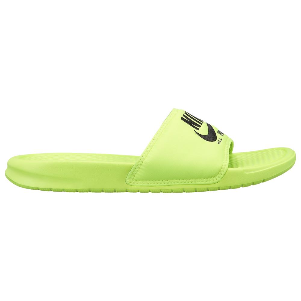 ナイキ Nike メンズ サンダル シューズ・靴【benassi jdi text se】Volt/Black