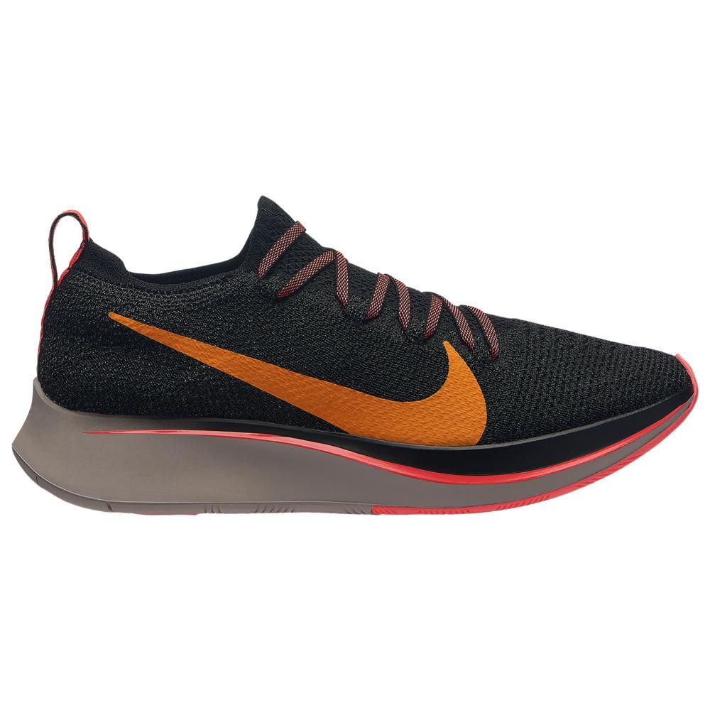 ナイキ Nike レディース 陸上 シューズ・靴【zoom fly flyknit】Black/Flash Crimson/Orange Peel