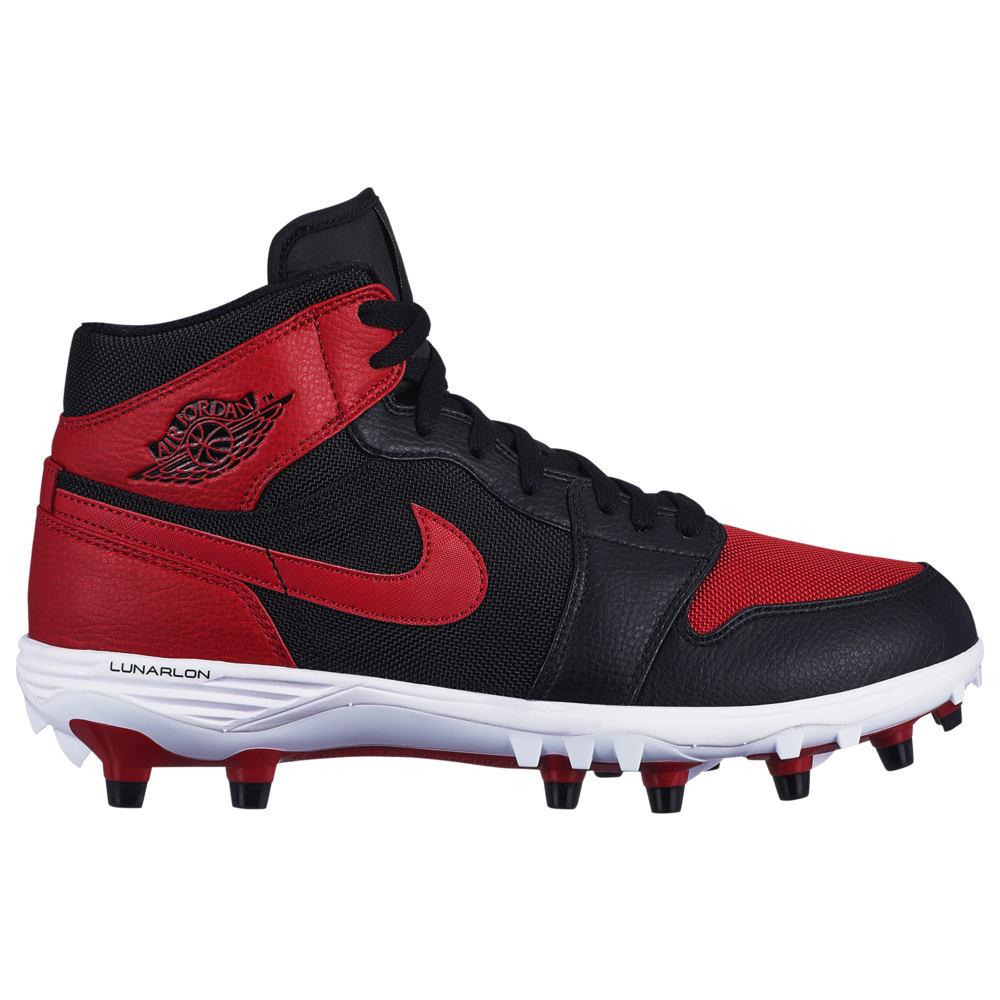 ナイキ ジョーダン Jordan メンズ アメリカンフットボール シューズ・靴【retro 1 td mid】Black/Varsity Red