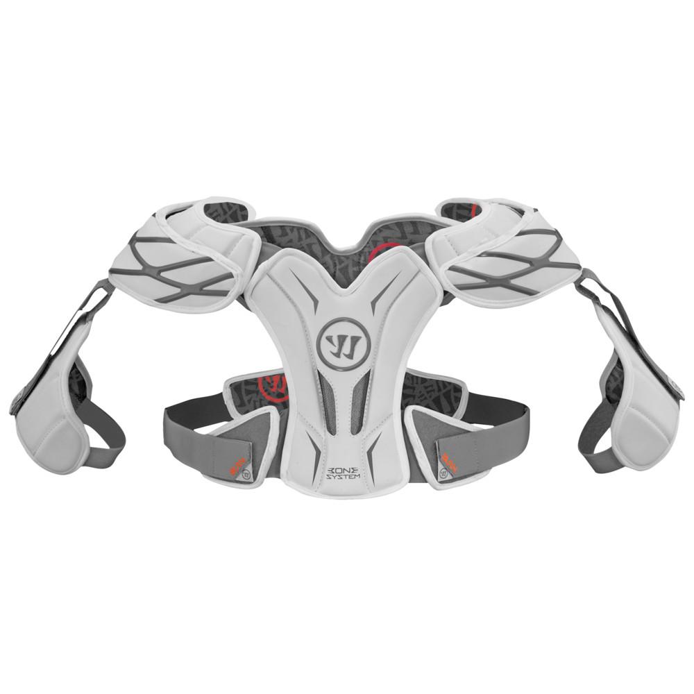 ウォーリアー Warrior メンズ ラクロス プロテクター【burn hitman shoulder pad】White