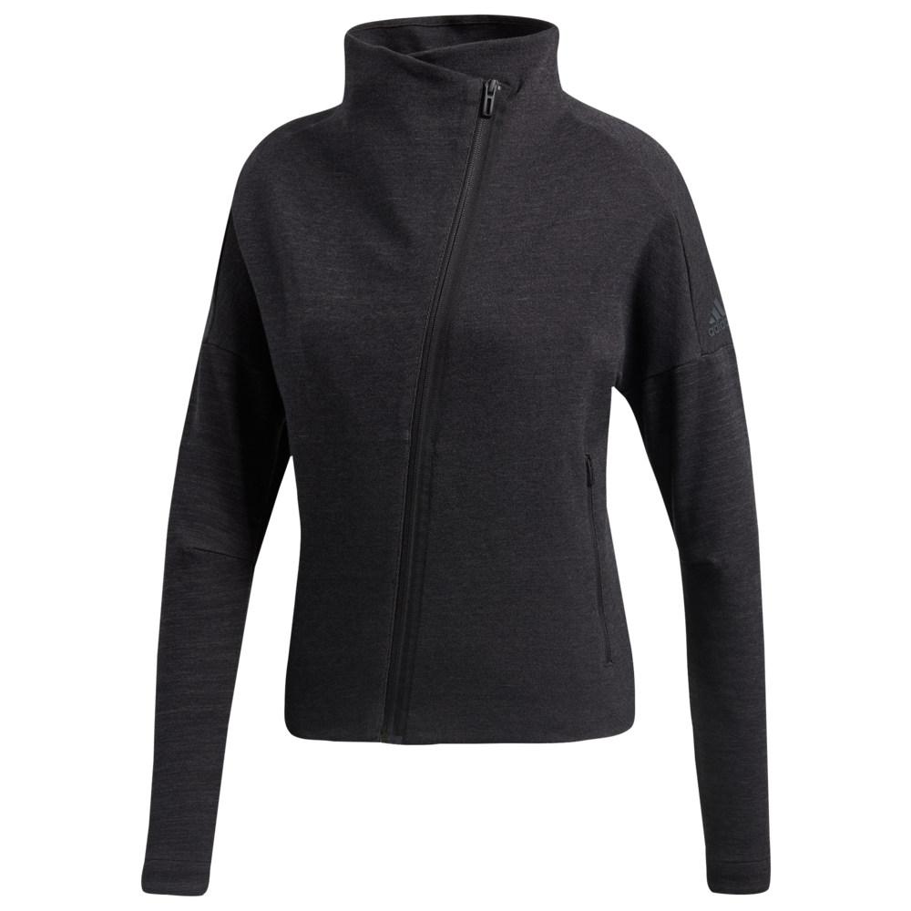アディダス adidas レディース フィットネス・トレーニング アウター【Heart Racer Cover Up Jacket】Black/Solid Grey