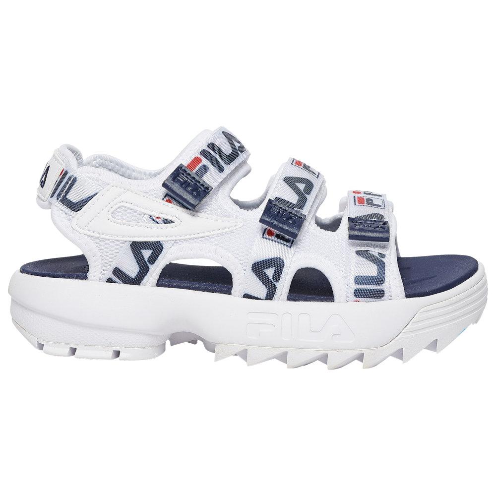 フィラ Fila レディース シューズ・靴 サンダル・ミュール【Disruptor Taping Sandals】White/Navy/Red