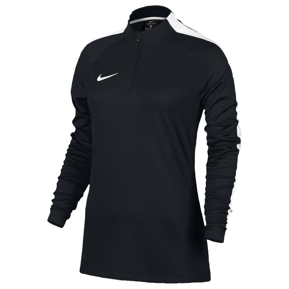 ナイキ Nike レディース サッカー トップス【Academy 1/2 Zip Top】Black/White