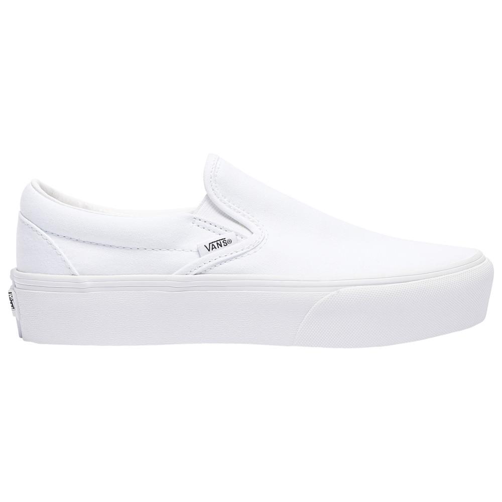 ヴァンズ Vans レディース スケートボード シューズ・靴【Classic Slip-On Platform】True White