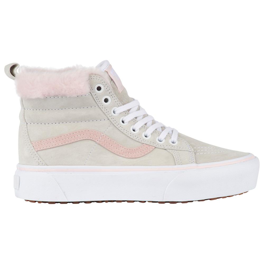 ヴァンズ Vans レディース スケートボード シューズ・靴【SK8-Hi Platform MTE】True White/Pink Fur