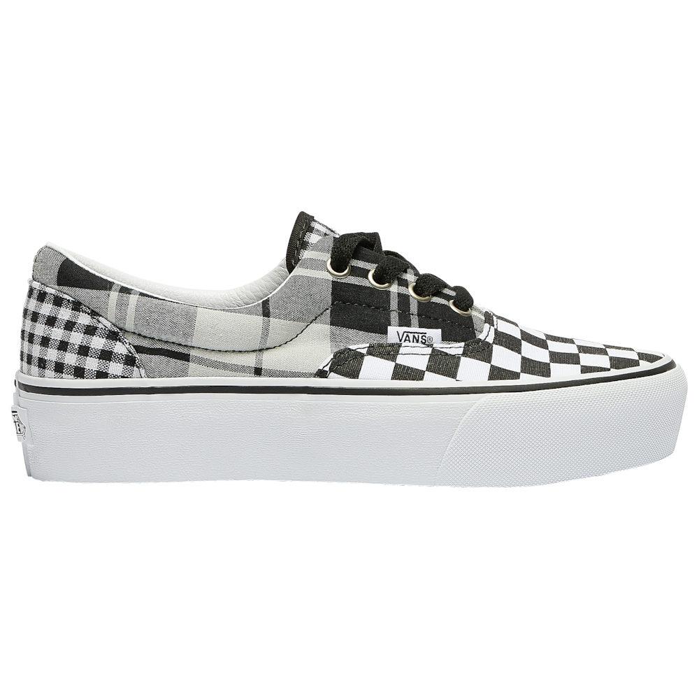 ヴァンズ Vans レディース スケートボード シューズ・靴【Era Platform】Black/True White Plaid Checkerboard