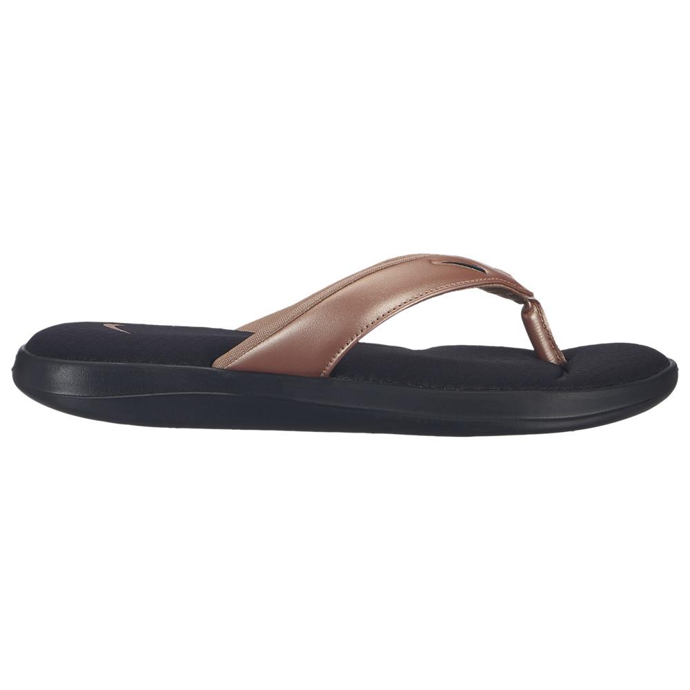 ナイキ Nike レディース シューズ・靴 ビーチサンダル【Ultra Comfort 3 Thong】Black/Black/Metallic Red Bronze