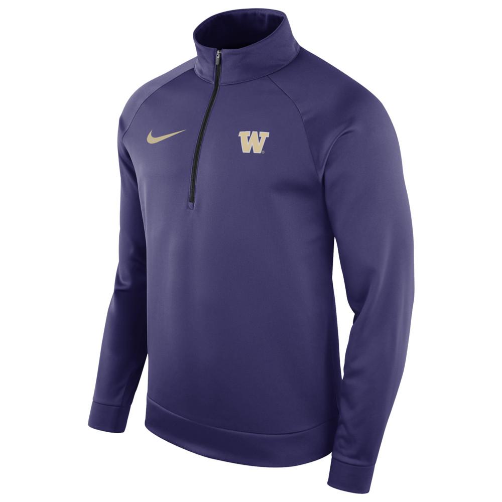 ナイキ Nike メンズ トップス【College Therma L/S 1/2 Zip Top】NCAA Washington Huskies New Orchid