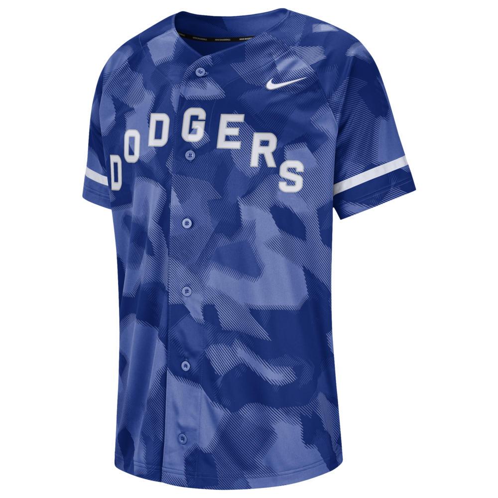 ナイキ Nike メンズ トップス【MLB Full Button Jersey】MLB Los Angeles Dodgers Rush Blue Camo