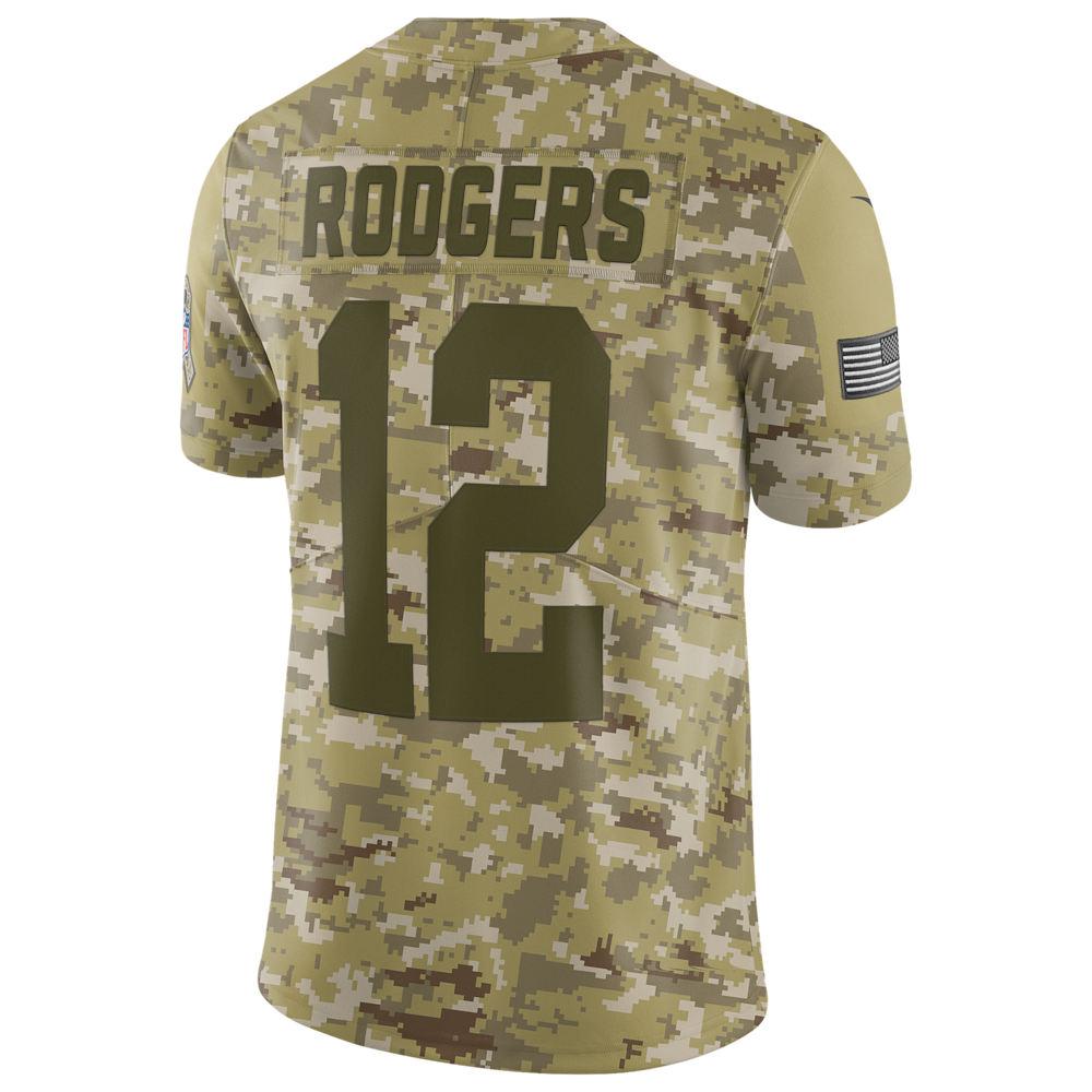 ナイキ Nike メンズ トップス【NFL Salute To Service Limited Jersey】NFL Green Bay Packers Aaron Rodgers Camper Green