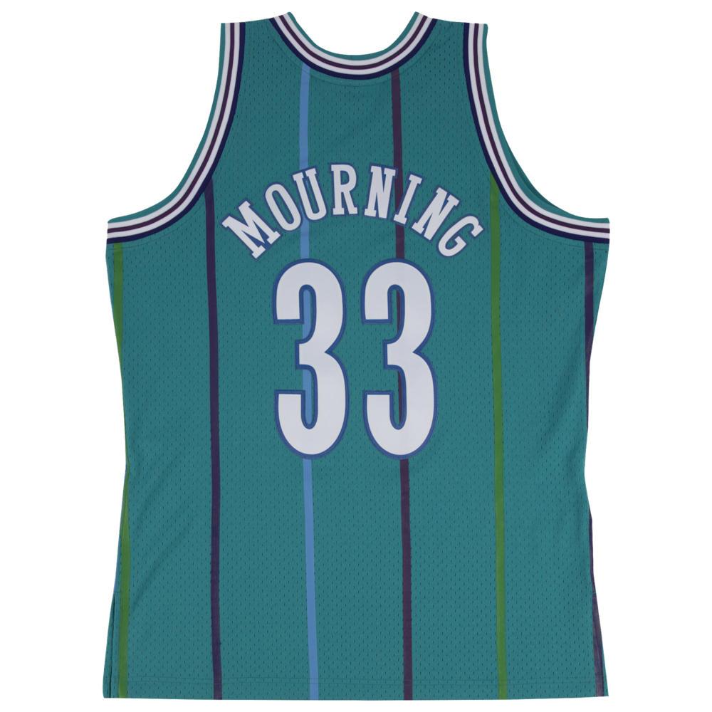 ミッチェル&ネス Mitchell & Ness メンズ バスケットボール トップス【NBA Swingman Jersey】NBA Charlotte Hornets Alonzo Mourning Teal 1992 to 1993
