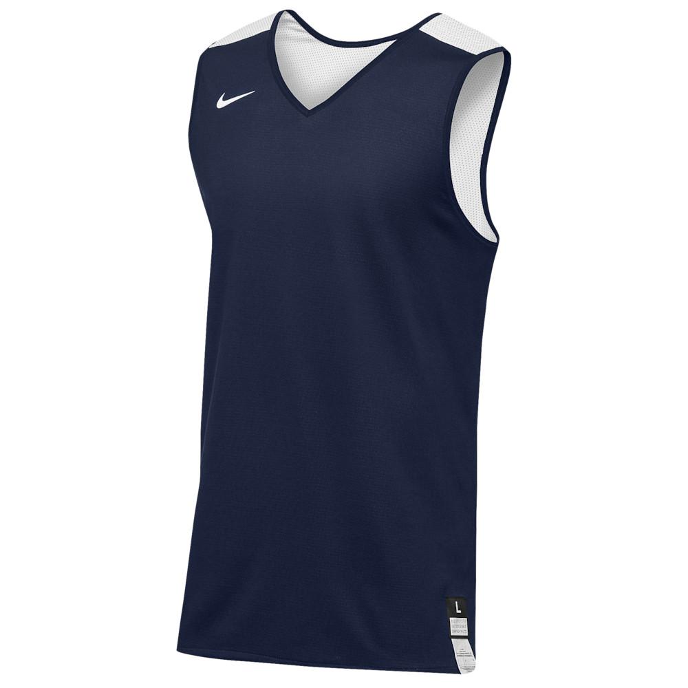 ナイキ Nike メンズ バスケットボール トップス【Team Elite Reversible Tank】Navy/White