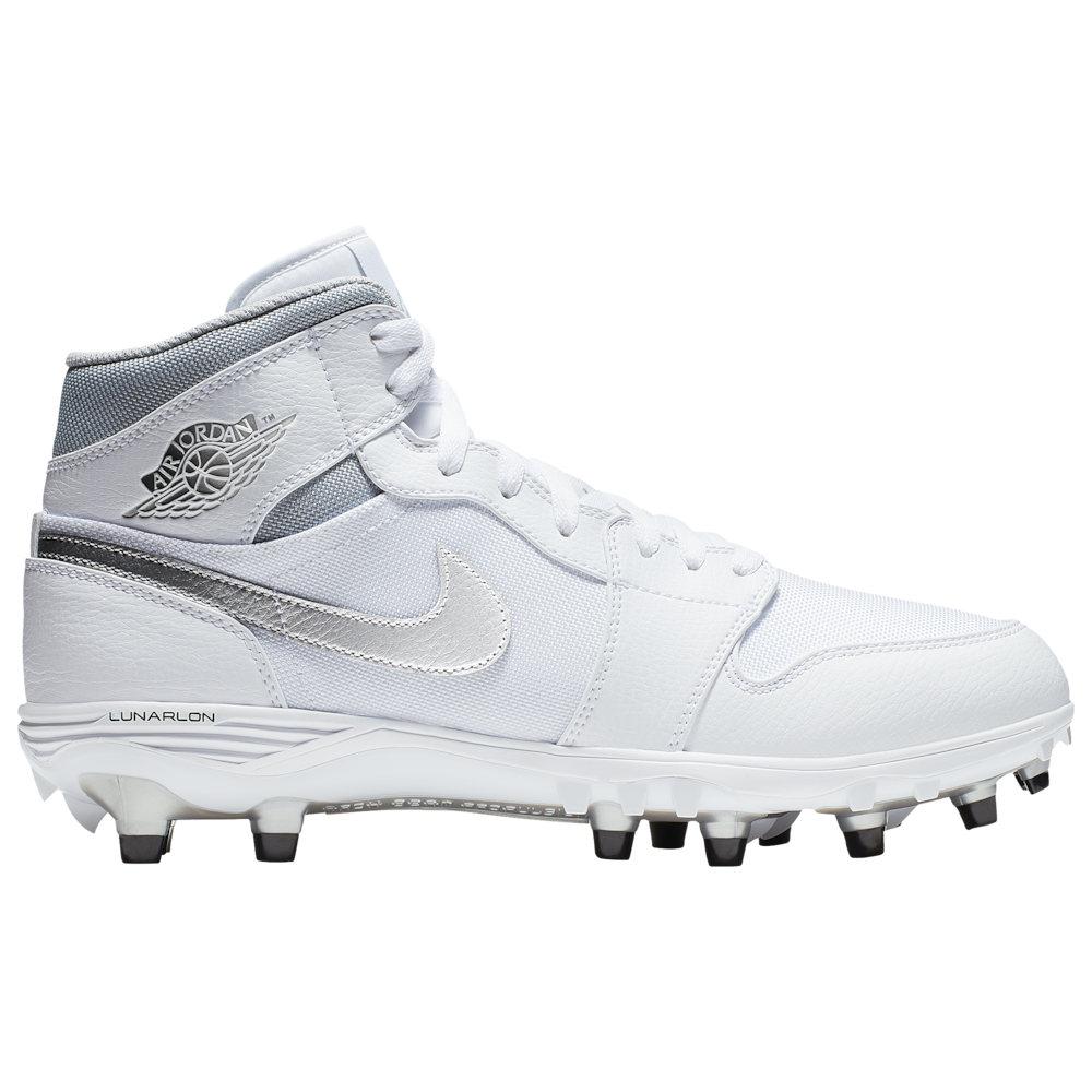 ナイキ ジョーダン Jordan メンズ アメリカンフットボール シューズ・靴【Retro 1 TD MID】White/Metallic Silver/Metallic Silver