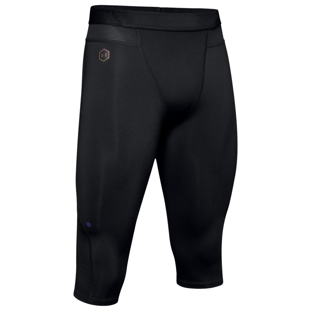 アンダーアーマー Under Armour メンズ バスケットボール タイツ・スパッツ ボトムス・パンツ【Select Rush Knee Tights】Black