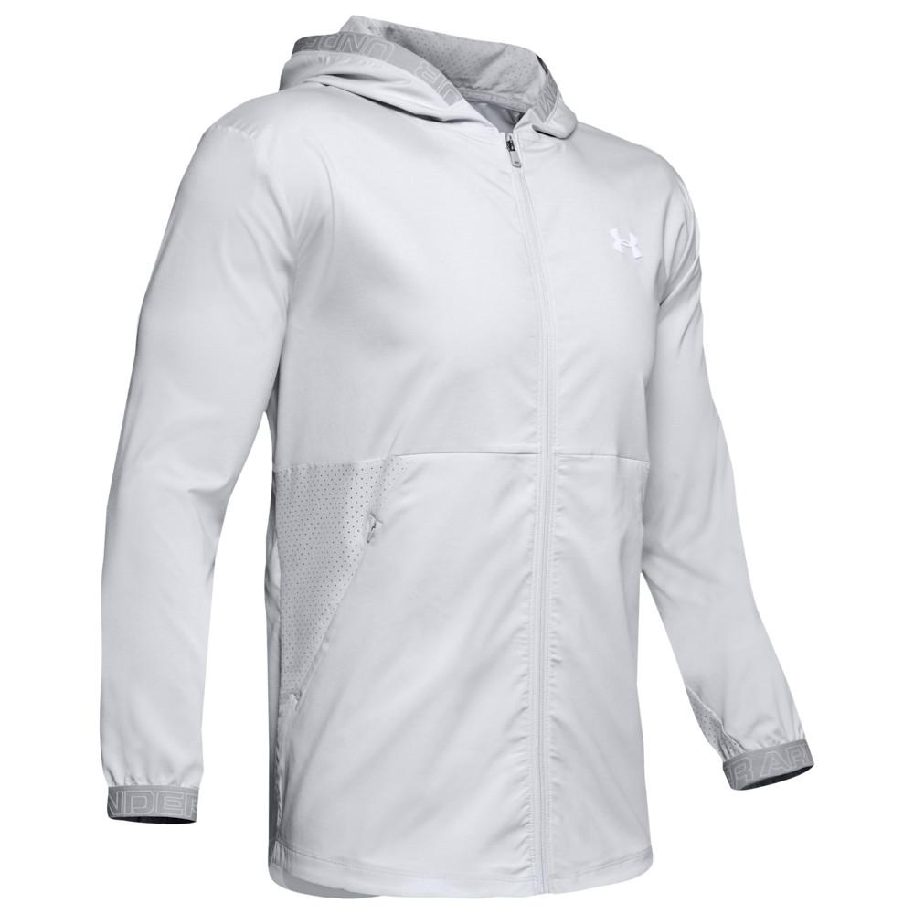 アンダーアーマー Under Armour メンズ フィットネス・トレーニング ジャケット アウター【Vanish Woven Jacket】Halo Grey/White