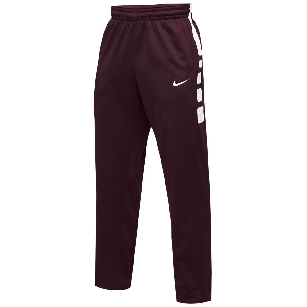 ナイキ Nike メンズ バスケットボール ボトムス・パンツ【Team Elite Stripe Pants】Dark Maroon/White