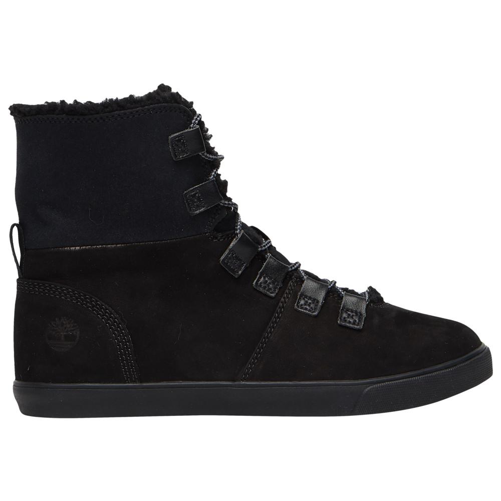 ティンバーランド Timberland レディース ブーツ シューズ・靴【Dausette Fleece Fold-Down】Black Nubuck