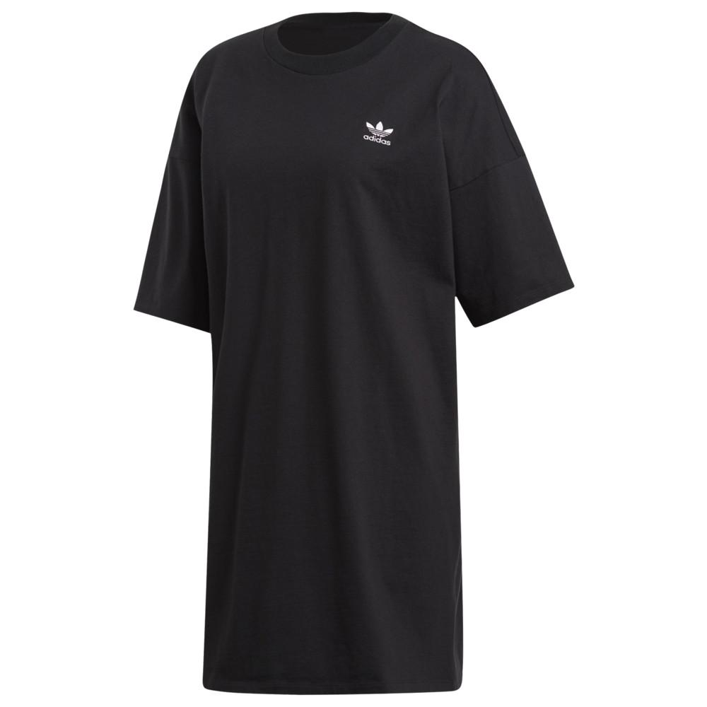 アディダス adidas Originals レディース ワンピース ワンピース・ドレス【Adicolor Trefoil Tee Dress】Black
