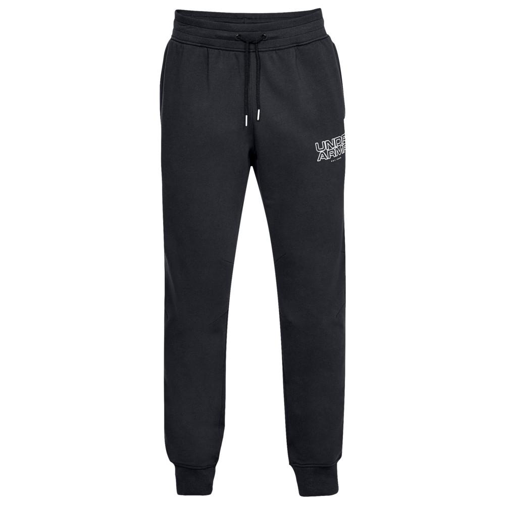 アンダーアーマー Under Armour メンズ バスケットボール ボトムス・パンツ【Baseline Fleece Tappered Pants】Black/White
