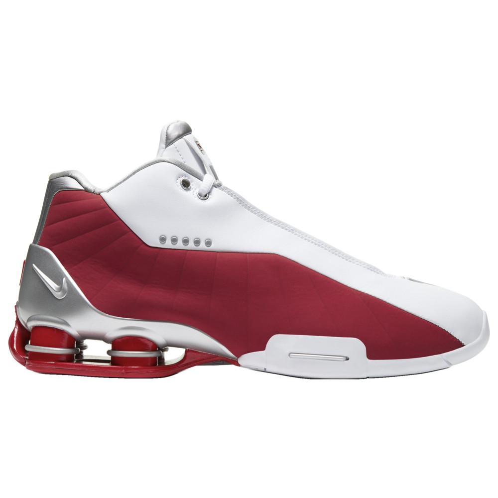ナイキ Nike メンズ バスケットボール シューズ・靴【Shox BB4】White/Metallic Silver/Varsity Red