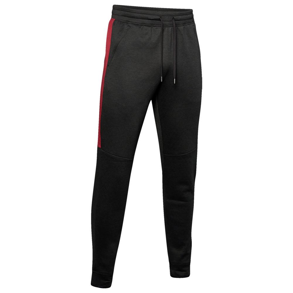 アンダーアーマー Under Armour メンズ フィットネス・トレーニング ボトムス・パンツ【Recover Fleece Pants】Black/Metallic Silver