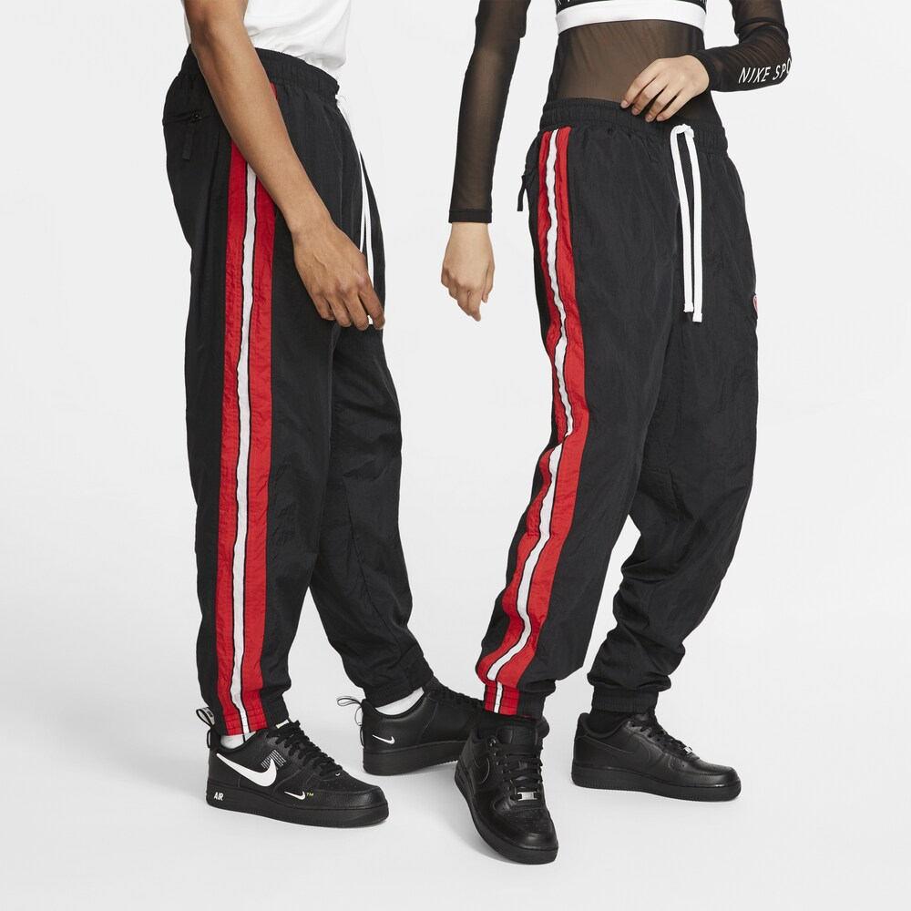 ナイキ Nike メンズ フィットネス・トレーニング ボトムス・パンツ【Throwback Woven Pants】Black/University Red